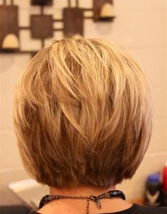 short bob hairstyles layered back