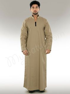 SportsX Mens Islamic Oblique Placket Button-Front Long Gown Muslim Work Shirt