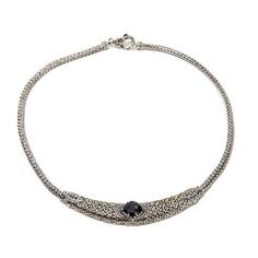 "Bali Designs 5.7ct Black Spinel 2-Tone 17"" Necklace"