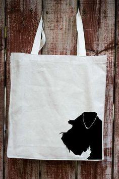 Schnauzer / Miniature Schnauzer Canvas Tote Bag