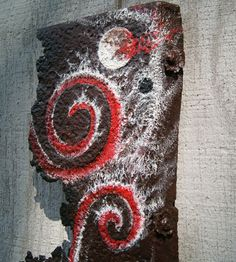 Acrylic Painting Original on Rusted Metal  by HollyFerencze, $45.95