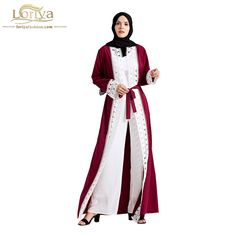 Wholesale Traditional & Cultural Wear Islamic Clothing Steady Fashionable Muslim Abaya Women Burqa Linen Fabric Plus Size Abaya Retail