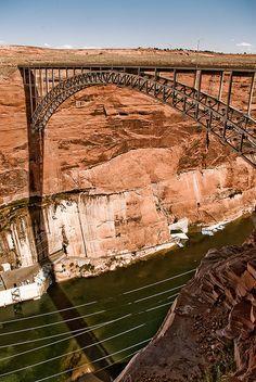 *ARIZONA~Glen Canyon Dam bridge, Page,