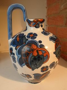 Wood & Sons Bursley Ware Ewer 103 Pattern – Frederick Rhead Pottery Art, Sons, Charlotte, Arts And Crafts, Hand Painted, Ceramics, Antiques, Pattern, Design