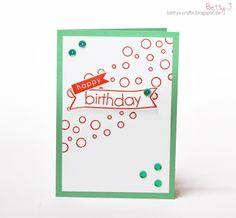 DIY birthday card with simple video tutorial
