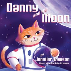 Danny and the Moon is short, sweet, and perfect for any young reader—in particular, readers who have a strong sense of curiosity and who love to giggle. Moon Rock, Curious Cat, Space Cat, Book Themes, Bedtime Stories, Childrens Books, My Books, How To Find Out, This Book