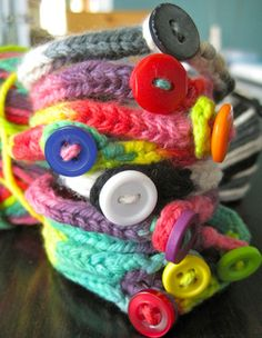 """Don't you get sick of all the plastic tat your child brings home from school on a Friday afternoon? Here's a simple i-cord bracelet to fill your child's class """"Treasure Box""""."""