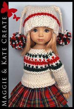 "*Christmas* WINTER Outfit for Little Darlings Effner 13"" by Maggie & Kate Create"