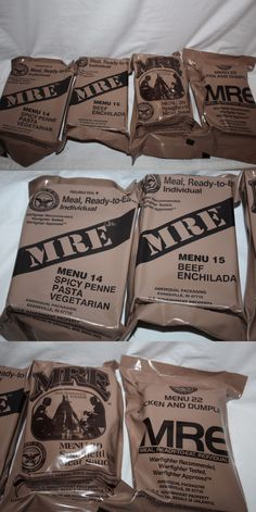Food And Drink: 4 - Mre Meal Ready To Eat Military Issue, Ration,Survival ,Emergency Food BUY IT NOW ONLY: $24.99