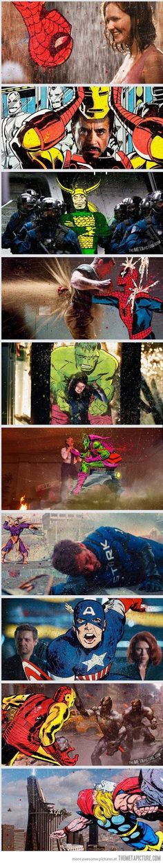 Crossovers between the movies and the original comics…
