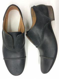 shoes by Maison martin Margiela cuir veau usde 100% Semelle cuir 100% Color bleu navy Réf. MAR-BAS-H-79218