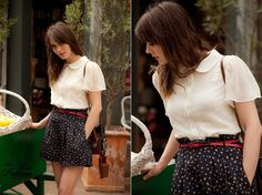 Skirt and blouse, cute