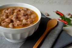 Zuppa piccante con salsiccia e fagioli