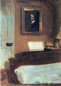 Edward Hopper - Artist's Bedroom, Nyack (1906)