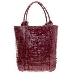 Nancy Gonzalez Patchwork Tote Crocodile