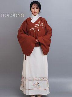 Jackets skirt Embroider Custom Women Jacket Hanfu Clothing