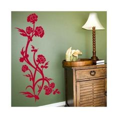 Style and Apply Rose Bush Wall Decal