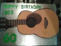 Guitar 60th birthday cake