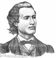 Mihai Eminescu was a Romantic poet, novelist and journalist, often regarded as the most famous and influential Romanian poet. Romanian Language, Photos Hd, Png Photo, Aesthetic Backgrounds, History Facts, Poet, Abraham Lincoln, Sketches, Romantic
