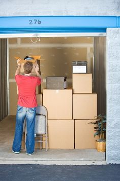 moving boxes into a storage unit Moving To San Diego, San Diego Living, Shipping Packaging, California City, Moving Boxes, San Fernando Valley, Small Storage, Storage Boxes, Mess Up
