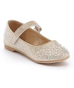 Love this Champagne Rhinestone Mary Jane - Infant & Toddler on #zulily! #zulilyfinds