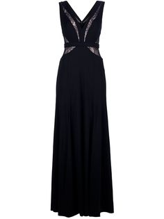 Bcbg Maxazria Lace Panel Evening Gown