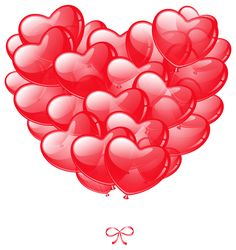 Transparent Heart Balloons PNG Image