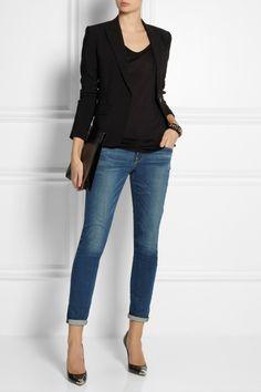 Frame Denim | Le Garcon mid-rise slim boyfriend jeans