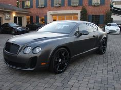 The new Bentley Continental GT Supersports is a terrifying car. The supercar's liter, twin-turbo engine takes the ton beast from in and reach a top speed of It… Black Bentley, New Bentley, My Dream Car, Dream Cars, Matte Cars, Car Paint Jobs, Bentley Continental Gt, Sweet Cars, Us Cars