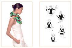 Ce nouage «Double Tour» est réalisable avec un Maxi-Twilly. Jouez avec votre carré Hermès avec l'application Silk Knots! #Hermes #Silk #SilkKnots