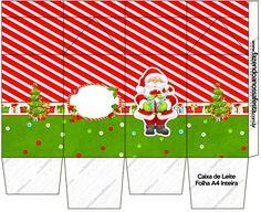 Caixa de Leite Natal Vermelho e Verde