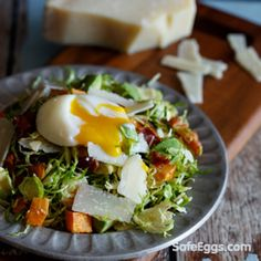 The poached eggs in this recipe are made safe with @safeeggs. Great recipe @sharedappetite
