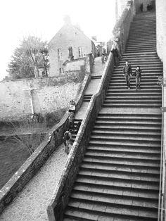 The stairs of Mont St. Michel