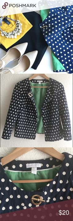 Polka dots blazer ! Reasonable offer are welcome ✔️   Cute style 👌🏻 ( fits like small or medium )  Follow my Instagram : @vintage.paris Charter Club Jackets & Coats Blazers
