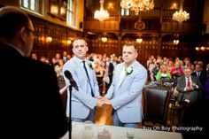 Cameron and Tim, looking great and tying the knot at their civil partnership last year.   #Gay #Wedding #Love #Civil #Partnership  #GayWedding #CivilPartnership #EqualMarriage #IronMongersHall #SameSex