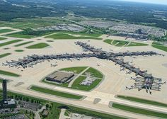 Pittsburgh International Airport (IATA: PIT) was constructed from 1946 to having been developed to replace Allegheny County Airport. Pittsburgh International Airport, Airport Design, Air Traffic Control, Aviation Industry, Aerial Drone, Commercial Aircraft, Aerial Photography, Travel Posters, City Photo