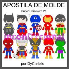 Apostila digital com Super Heróis