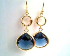 Items similar to Crystal Oasis Earrings (choice of color) on Etsy