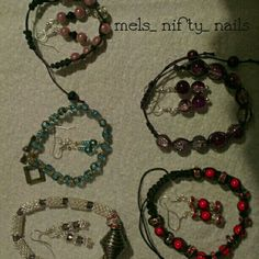 Bracelet & earring sets.