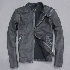 Find More Information about Free Shipping 2015 New Men Leather Jacket Water Wash Vintage Stand Collar 100% Genuine Cow Skin Leather Slim Men Winter Coat,High Quality jacket camel,China coat jacket men Suppliers, Cheap jacket outdoor from Ye Leather World on Aliexpress.com