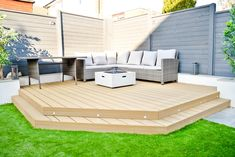 Modern back garden makeover, before and after. Back Garden Design, Modern Garden Design, Contemporary Garden, Modern Design, Backyard Patio Designs, Backyard Landscaping, Backyard Ideas, Backyard Pools, Garden Ideas With Decking