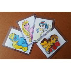 For sale, pony princess watercolor artist trading cards