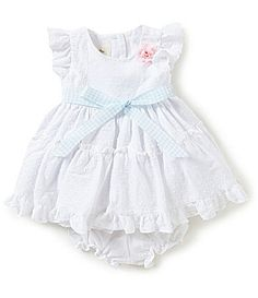 Laura Ashley London Baby Girls Newborn24 Months Eyelet Trimmed Dress #Dillards