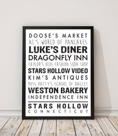 Gilmore Girls Wall Print Decor Mais