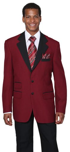 Milano Moda Mens Burgundy Jacket Black Collar Tuxedo 7022