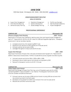 sle vp level supply chain resume for more resume