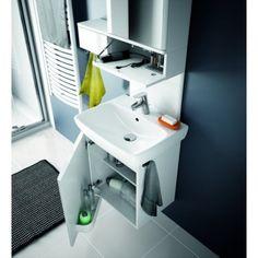 Dedeman Masca baie + lavoar + dulap cu oglinda Kolo Nova Pro M39006 + 88431, cu usi, alb, 60 cm - Dedicat planurilor tale Pantone, Nova, Sink, House Design, Shower, Cabinet, Luxury, Storage, Bathroom