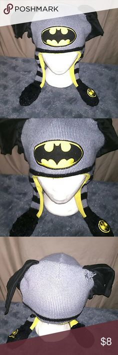 Kids BATMAN beenie Kids BATMAN beenie with ears & BATMAN logo. ABG Accessories Hats