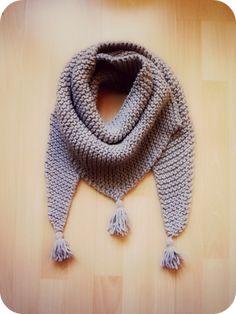 Baktus scarf - Strikkelise - free pattern