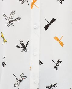 Image 7 of PRINTED SHIRT WITH TAB SLEEVES from Zara